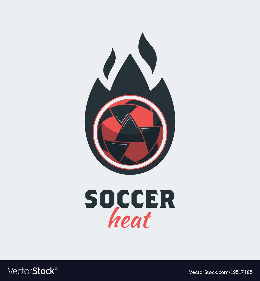 Soccer football logo template modern sport ball vector image maxwellsz