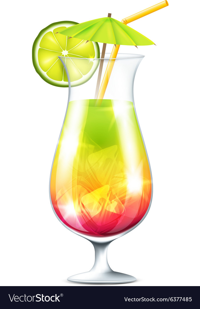 Tropical cocktail Royalty Free Vector Image - VectorStock