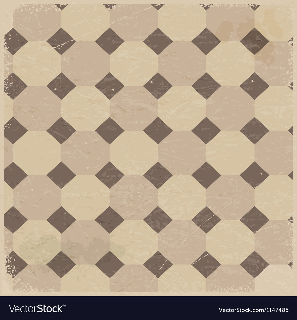 Vintage background with rhombus pattern vector image