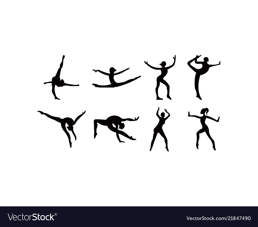 Athlete woman in gym exercise ballet girl