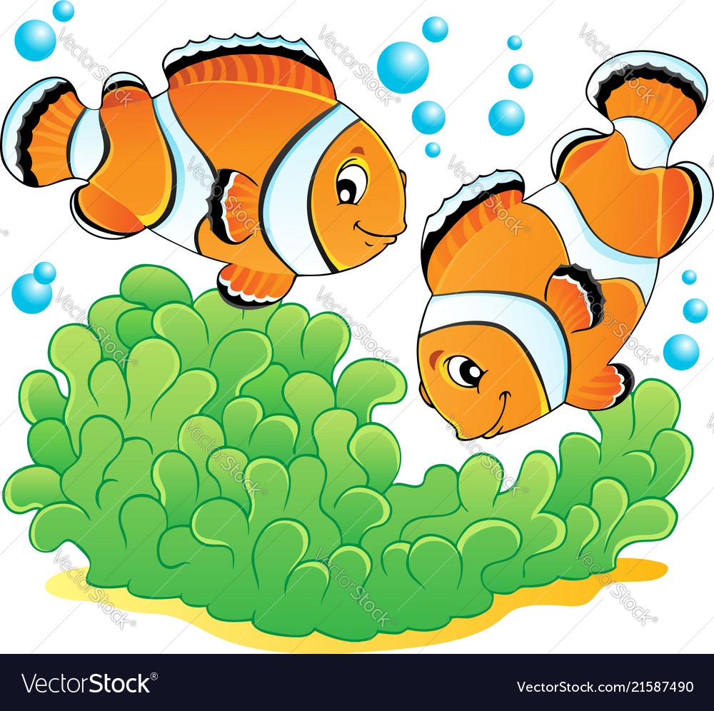 Clown fish theme image 1 Royalty Free Vector Image