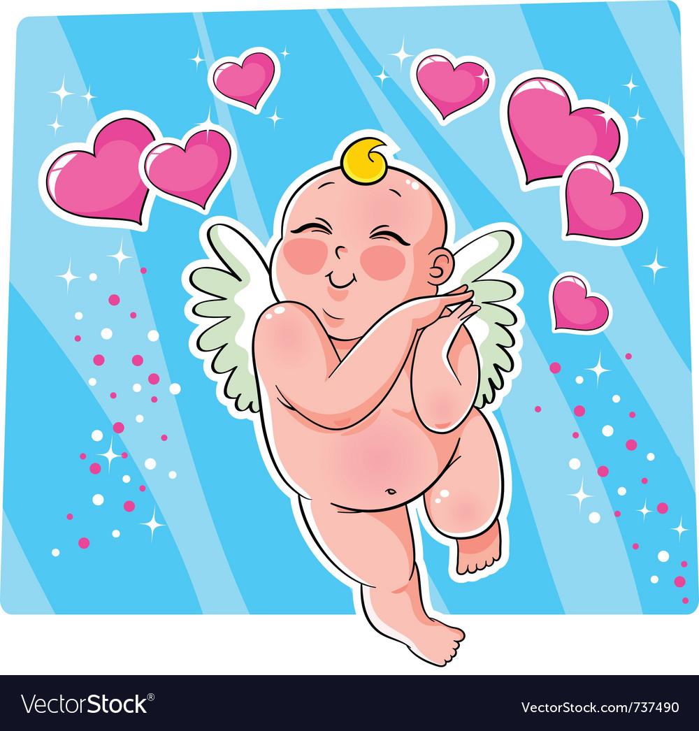 Cupid vector image