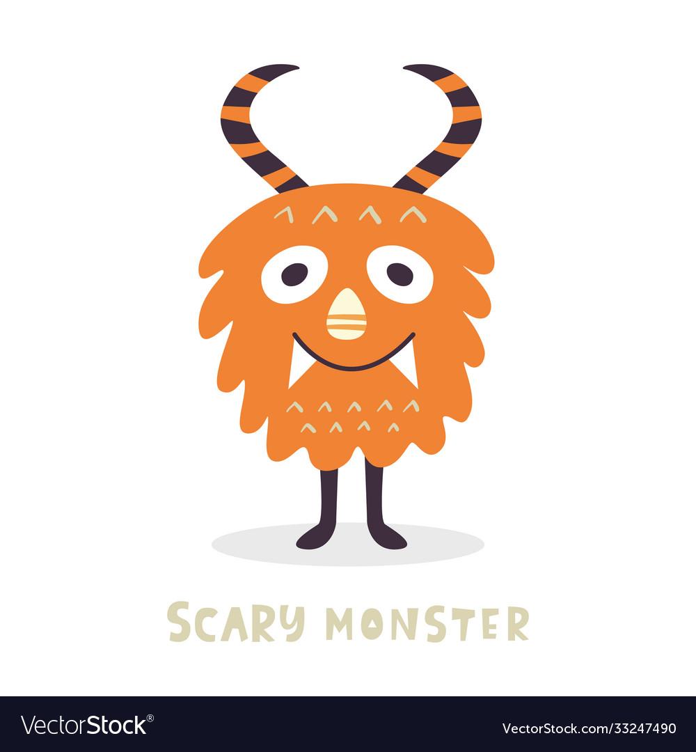 Cute halloween monster character