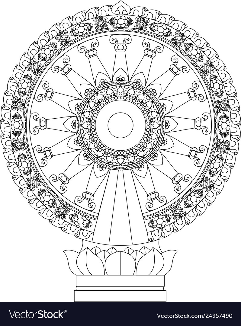 wheel dhamma wheel life vector