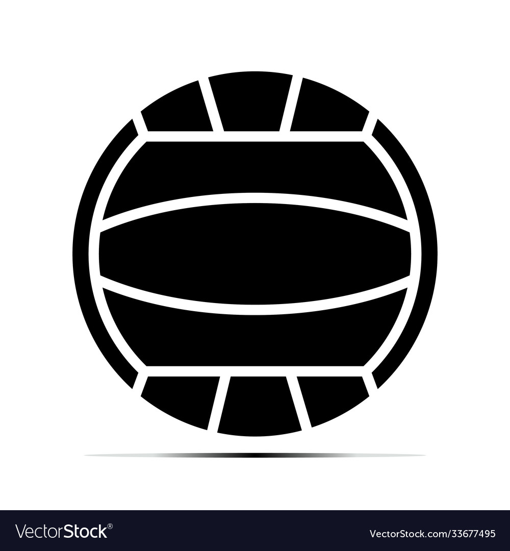 Beach volleyball ball flat icons on a transparent