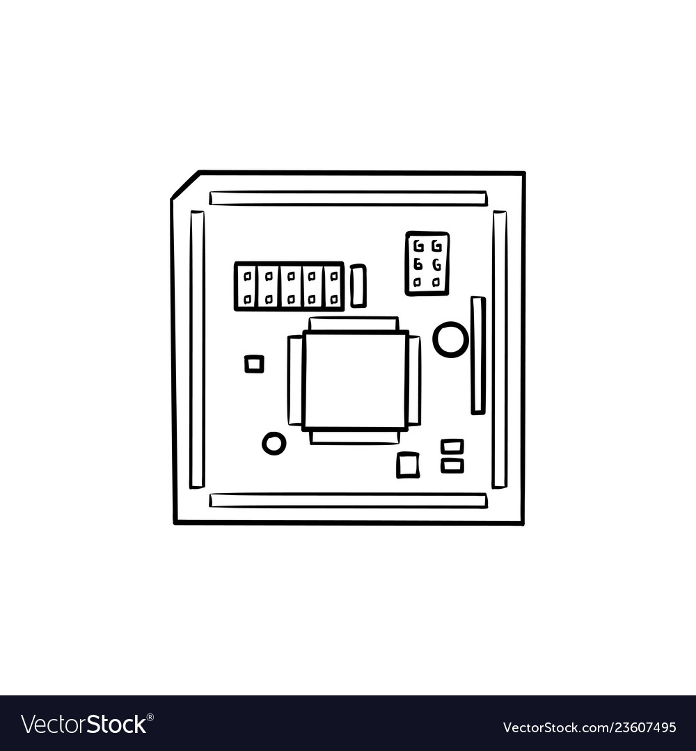 Outstanding Circuit Board Hand Drawn Outline Doodle Icon Vector Image Wiring 101 Akebretraxxcnl