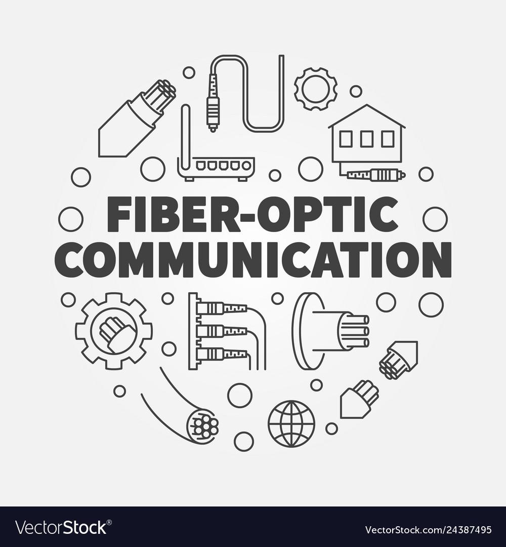 Fiber-optic communication round outline
