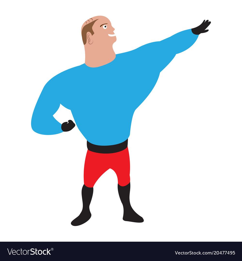 Male superhero cartoon character