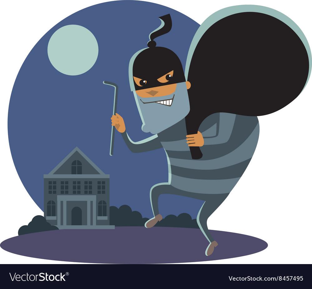 Robber at night