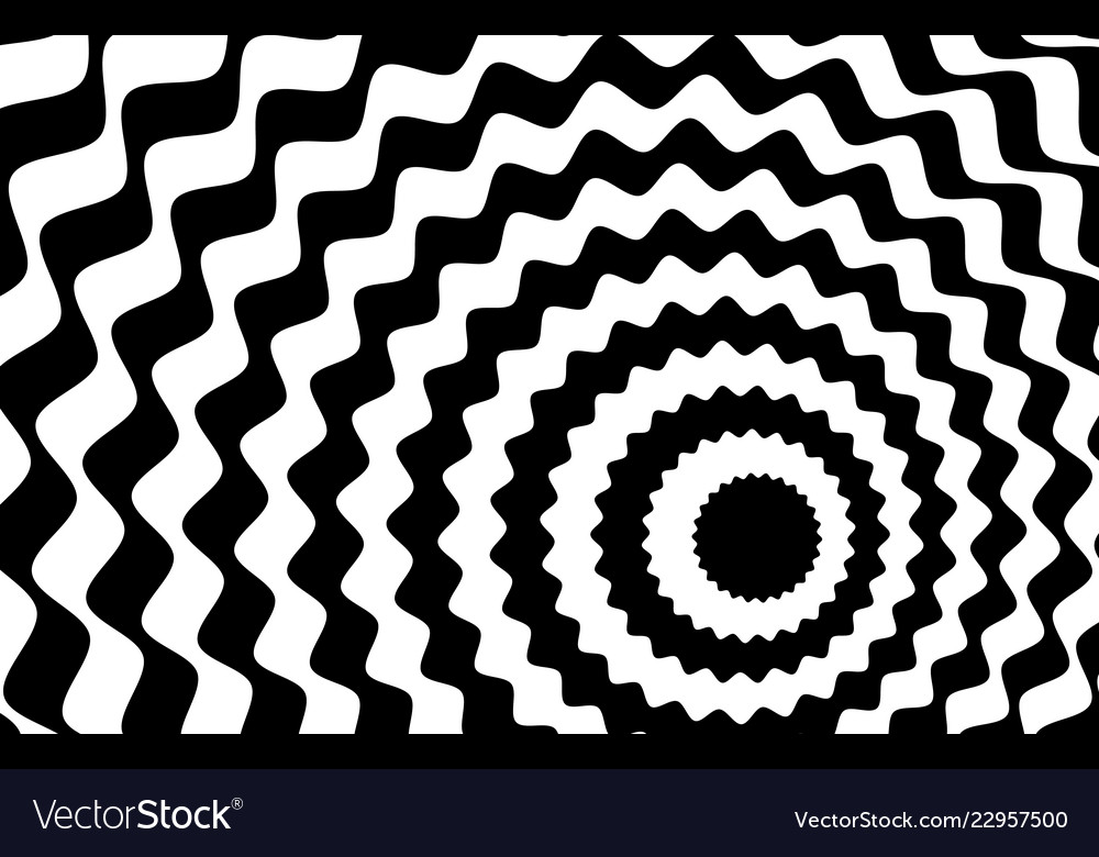 Black and white wave stripe optical abstract