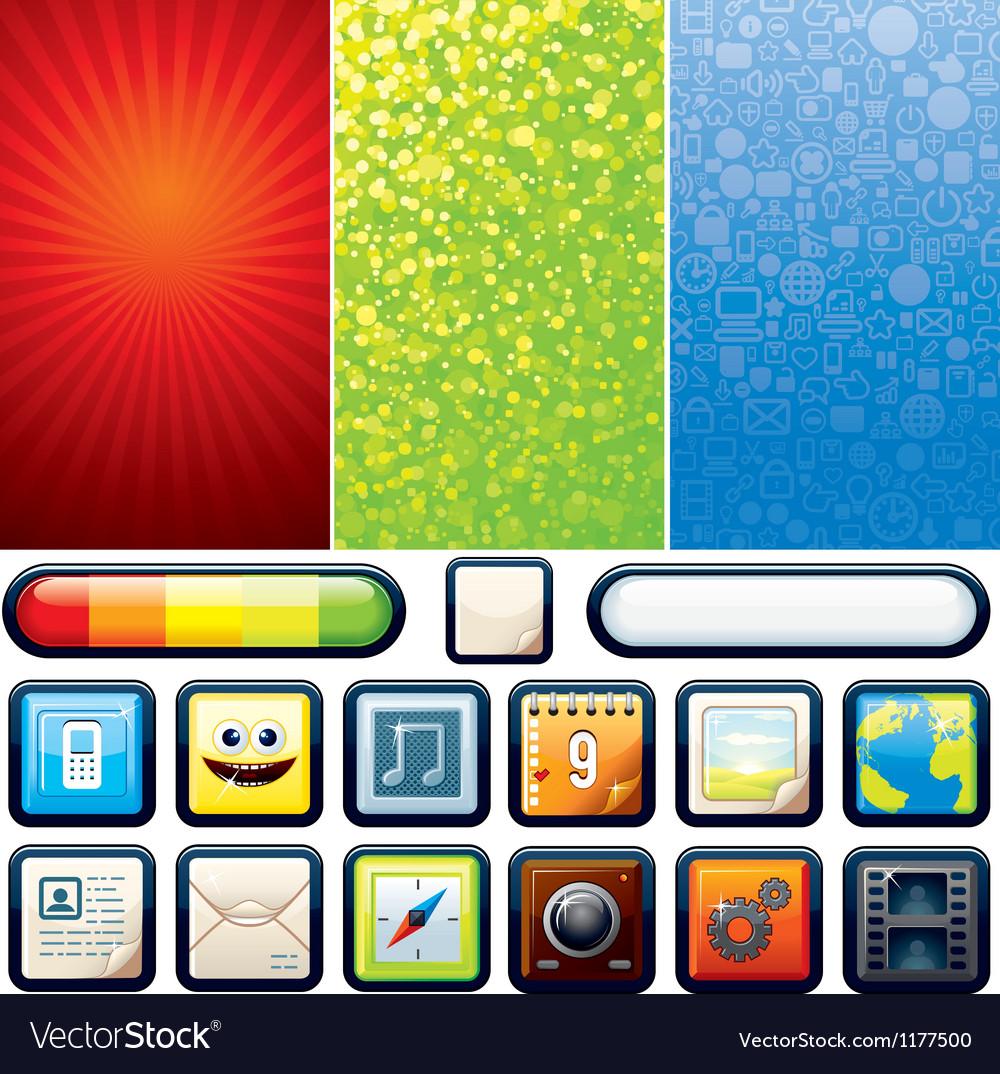 Funky Phone Set Graphics