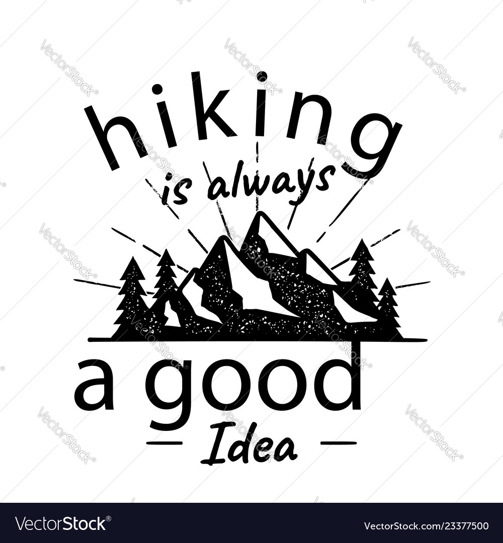 Hiking adventure logo hiking is a
