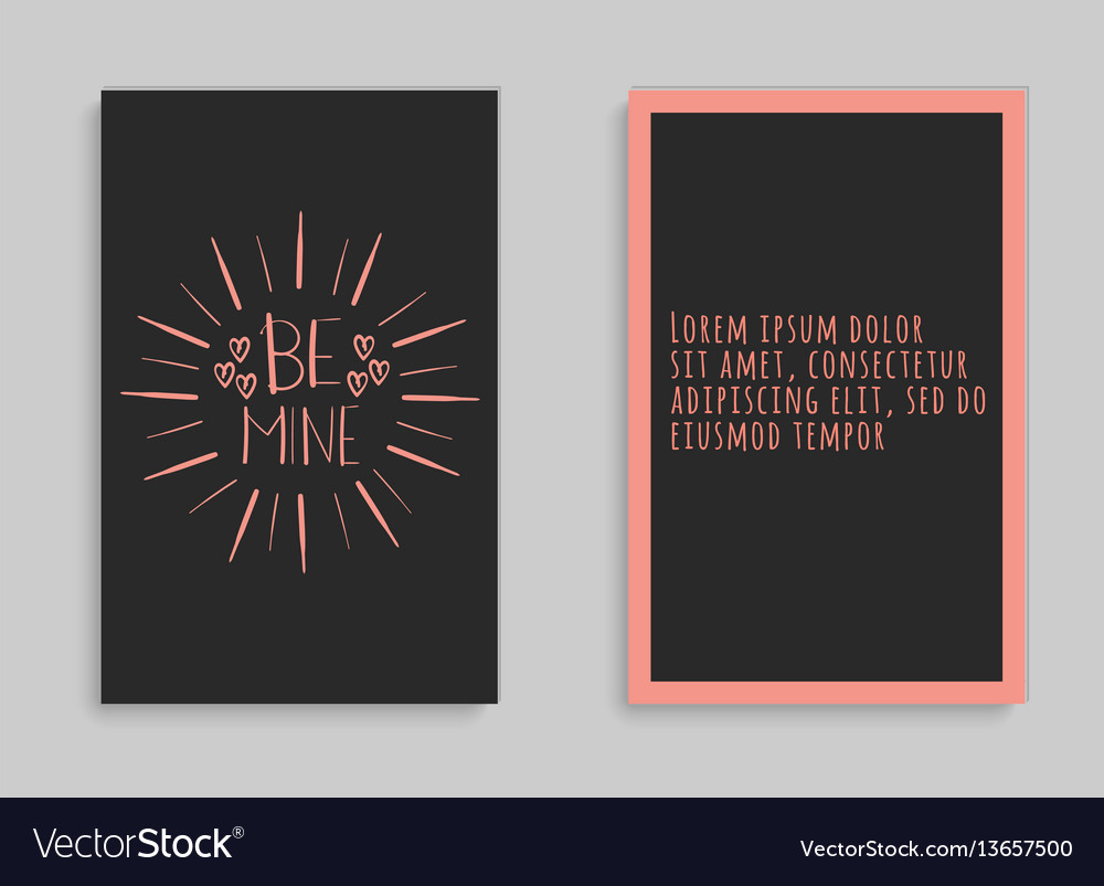 Lettering postcard with a phrase be mine vector image