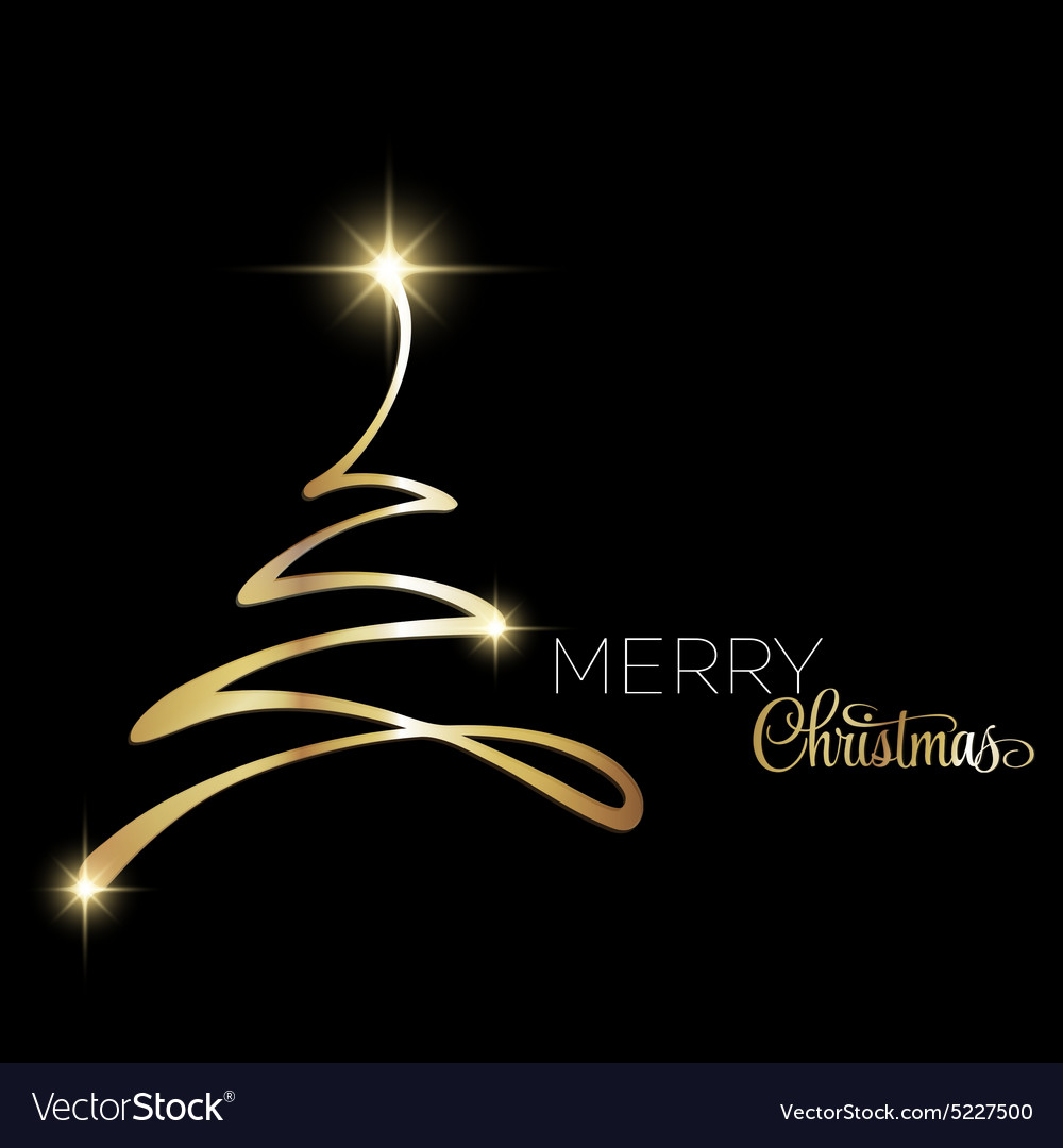 Merry Christmas tree greeting card Paper design