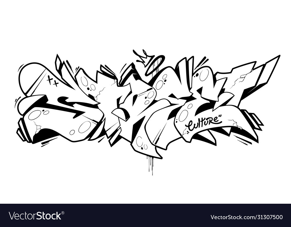 Street graffiti lettering art