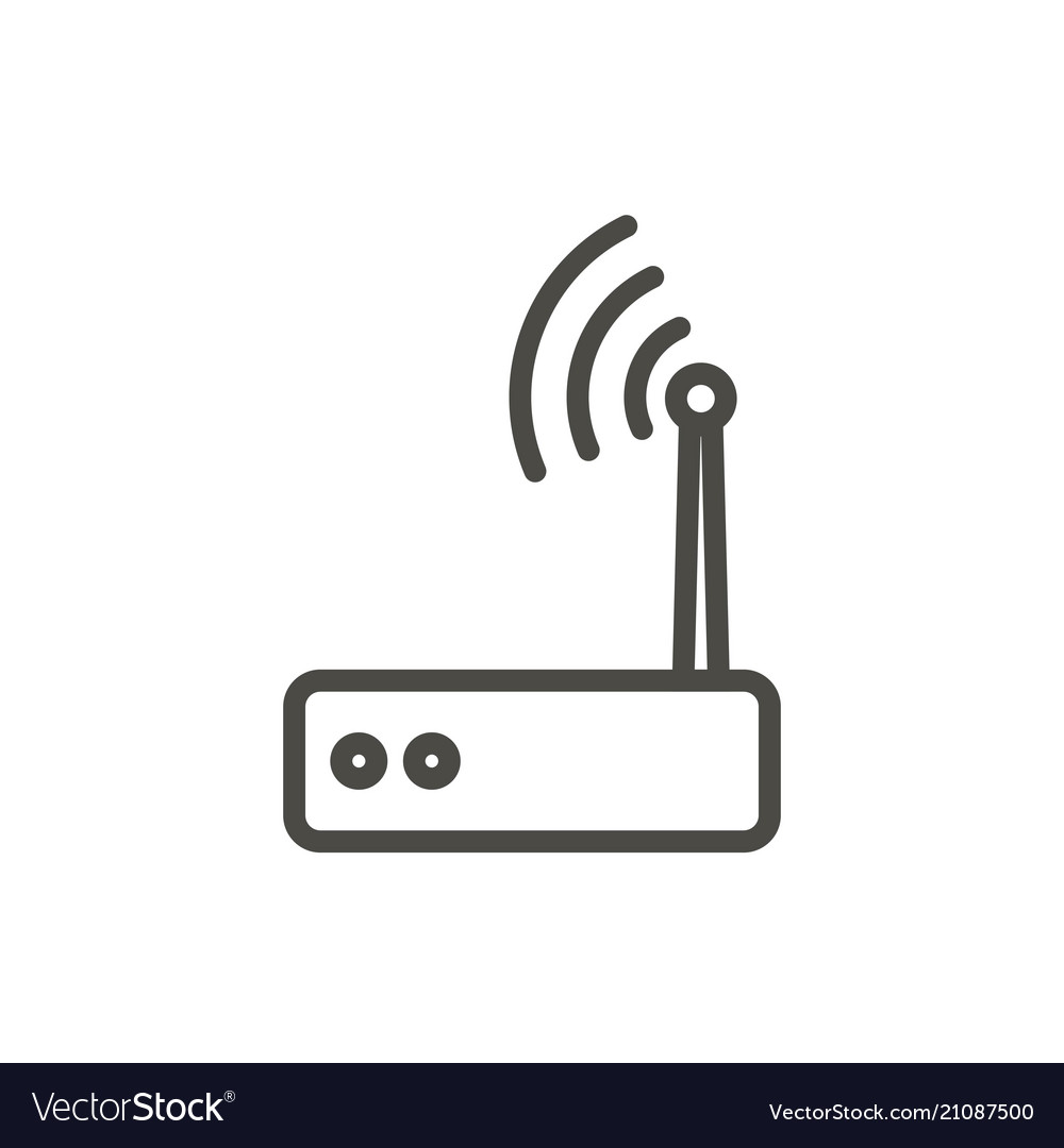Wifi Router Icon Line Wireless Symbol Royalty Free Vector