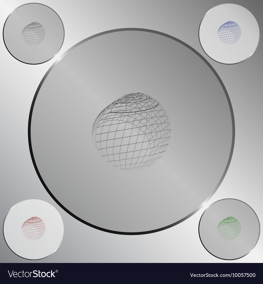Wire-frame Design Element Sphere Royalty Free Vector Image
