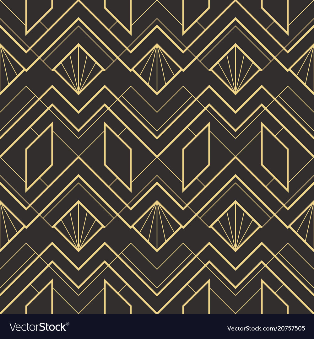 Abstract art deco seamless pattern 02