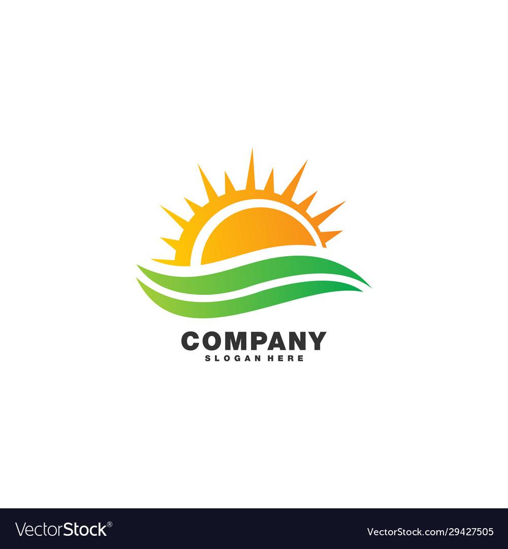 Abstract sunset logo design