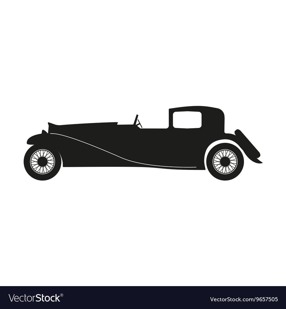 Black silhouette of a retro car