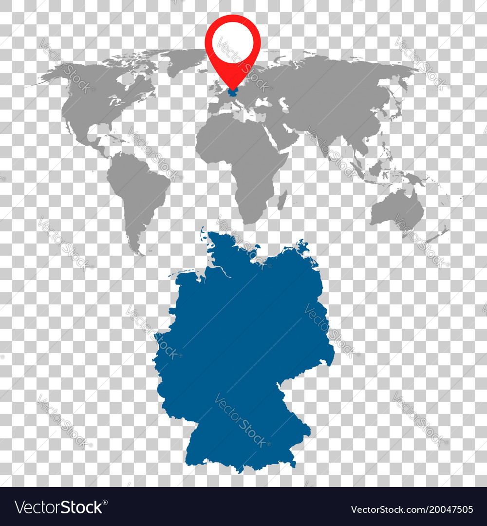 Detailed map of germany and world map navigation vector image gumiabroncs Images