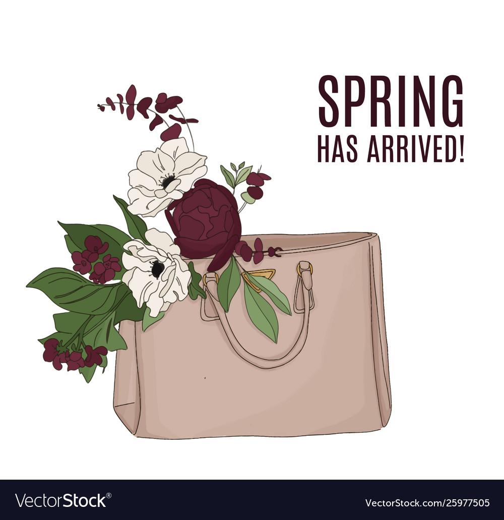 Fashion luxury bag full flowers beautiful