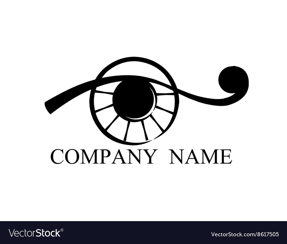 Isolate abstract eye vector image