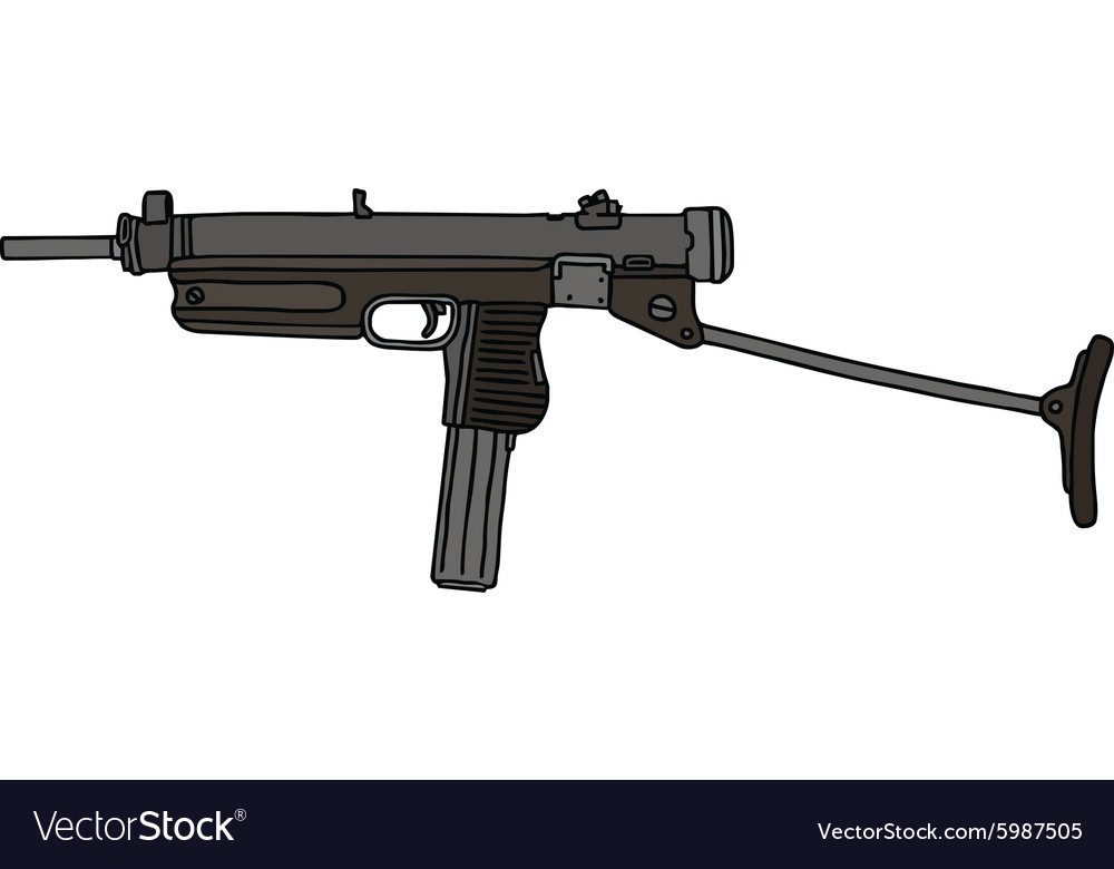 Old small automatic gun