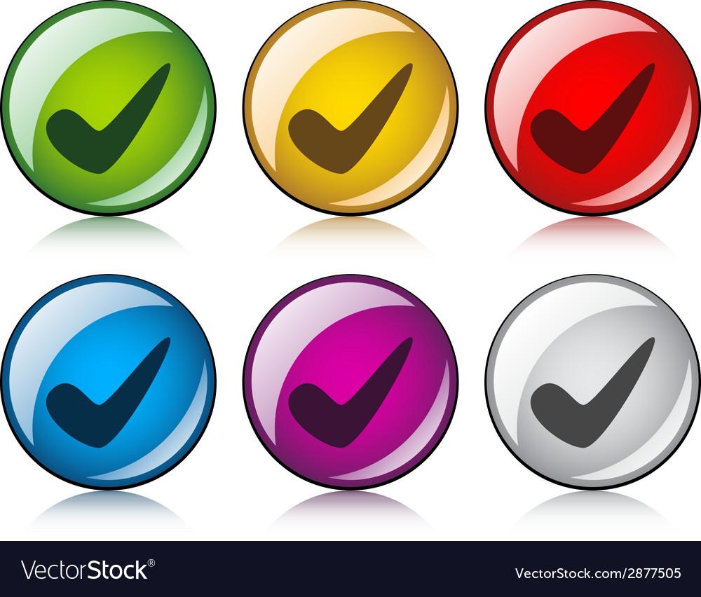 Positive checkmark buttons