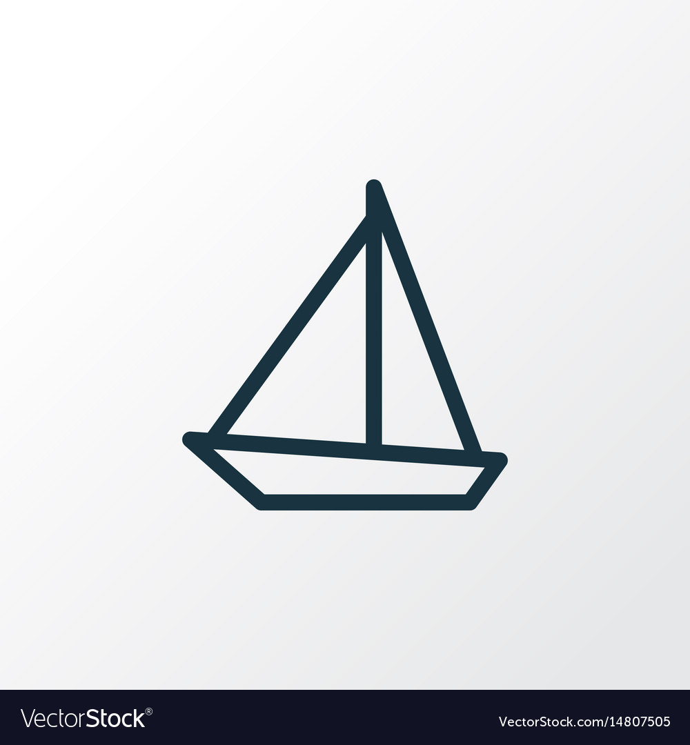 Sailboat outline symbol premium quality isolated