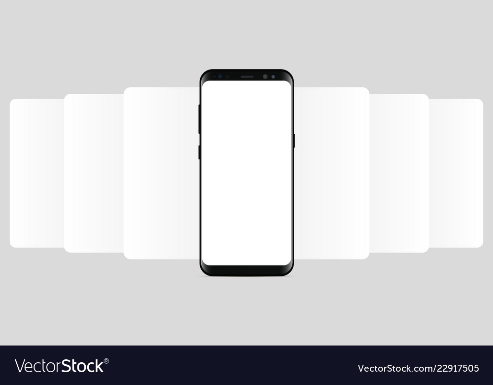 Smartphone with blank wireframing screens