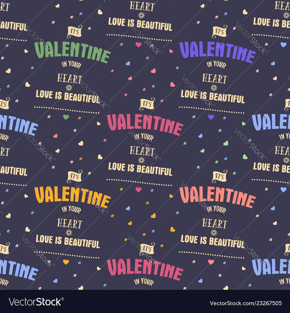 Valenines day pattern it s valentine in your