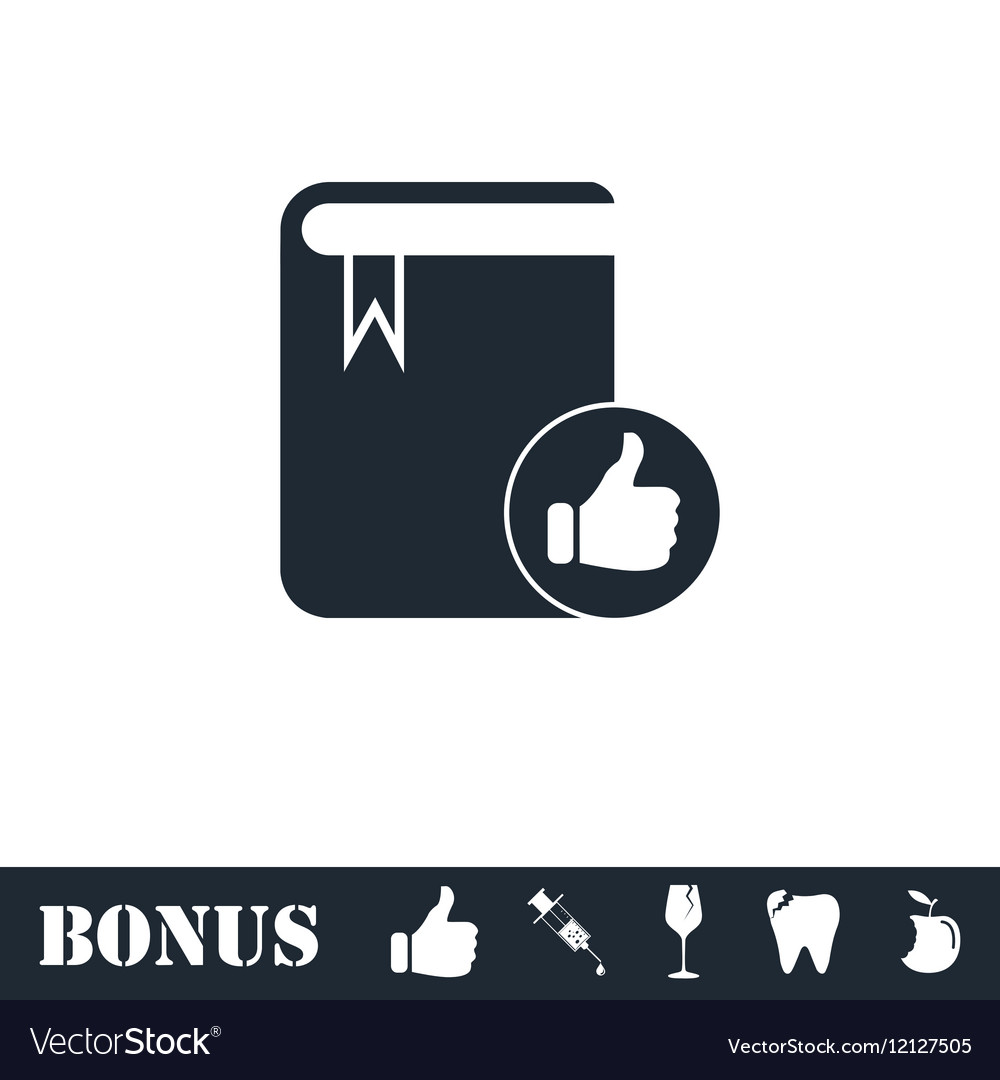VIP favorite book icon flat vector image