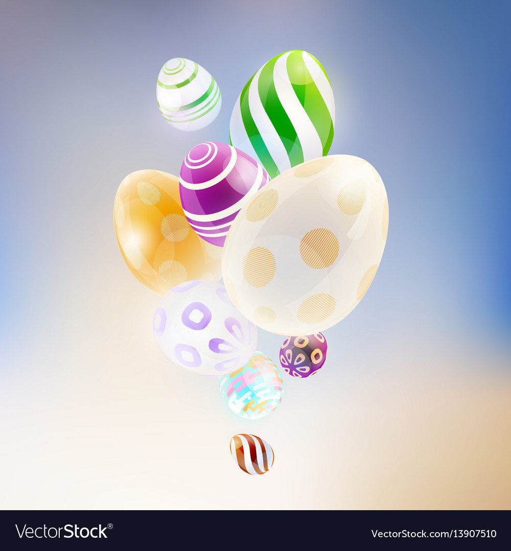 Abstract background with glass eggs