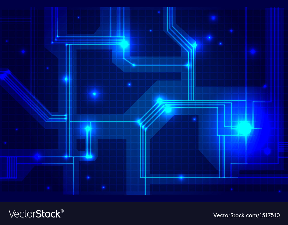 Abstract Electronics Blue Background Royalty Free Vector