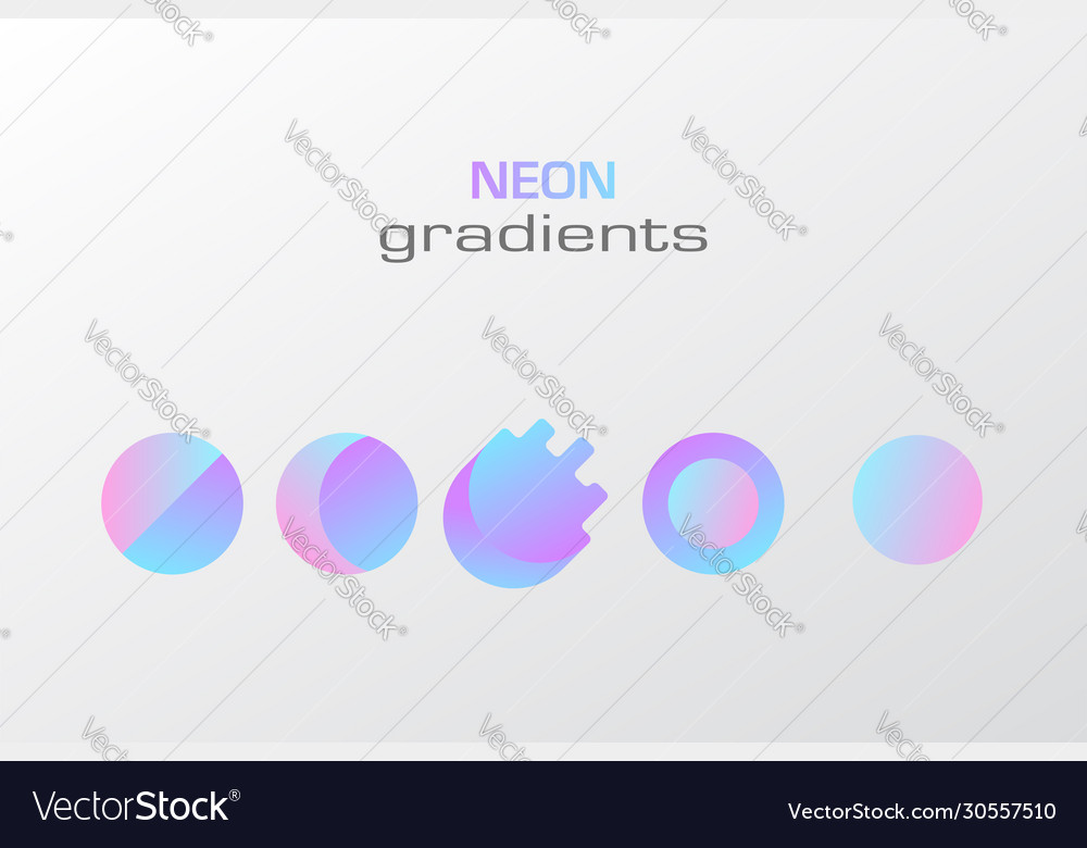 Abstract pastel gradient colors simple figure