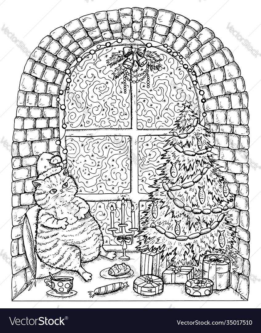 Black and white christmas and new year card