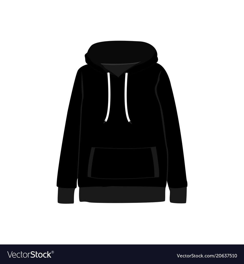 Black sweatshirt hooded fashion style item