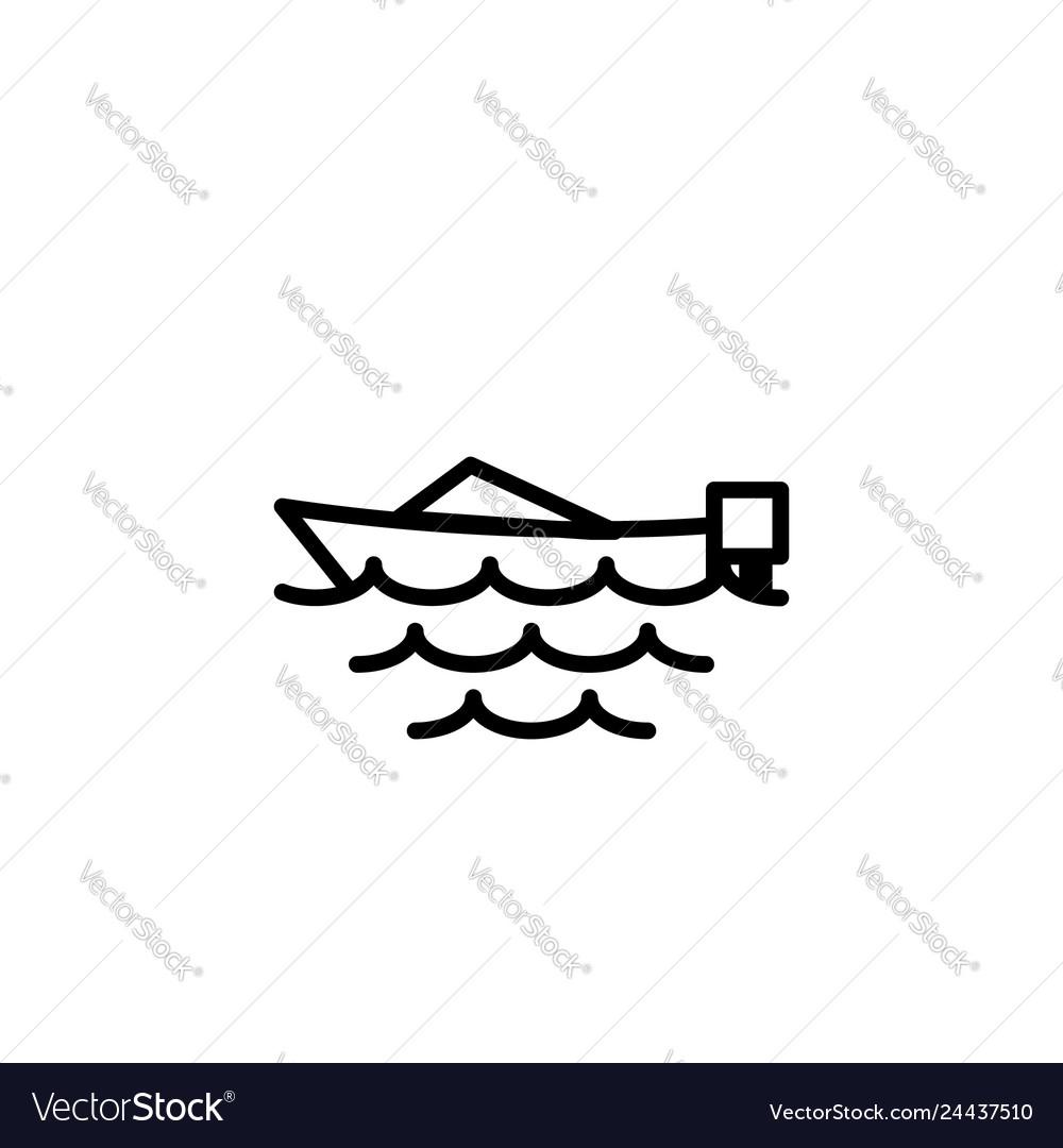 Boat icon stock of transportation vehicles