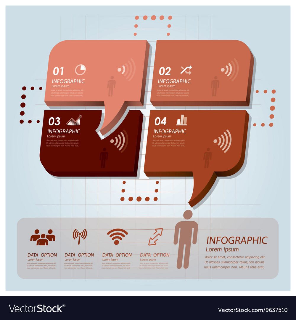 Business Infographic With Communication Speech