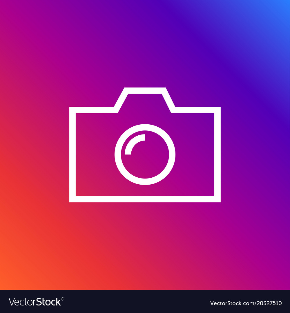 Camera icon in trendy flat style isolated on
