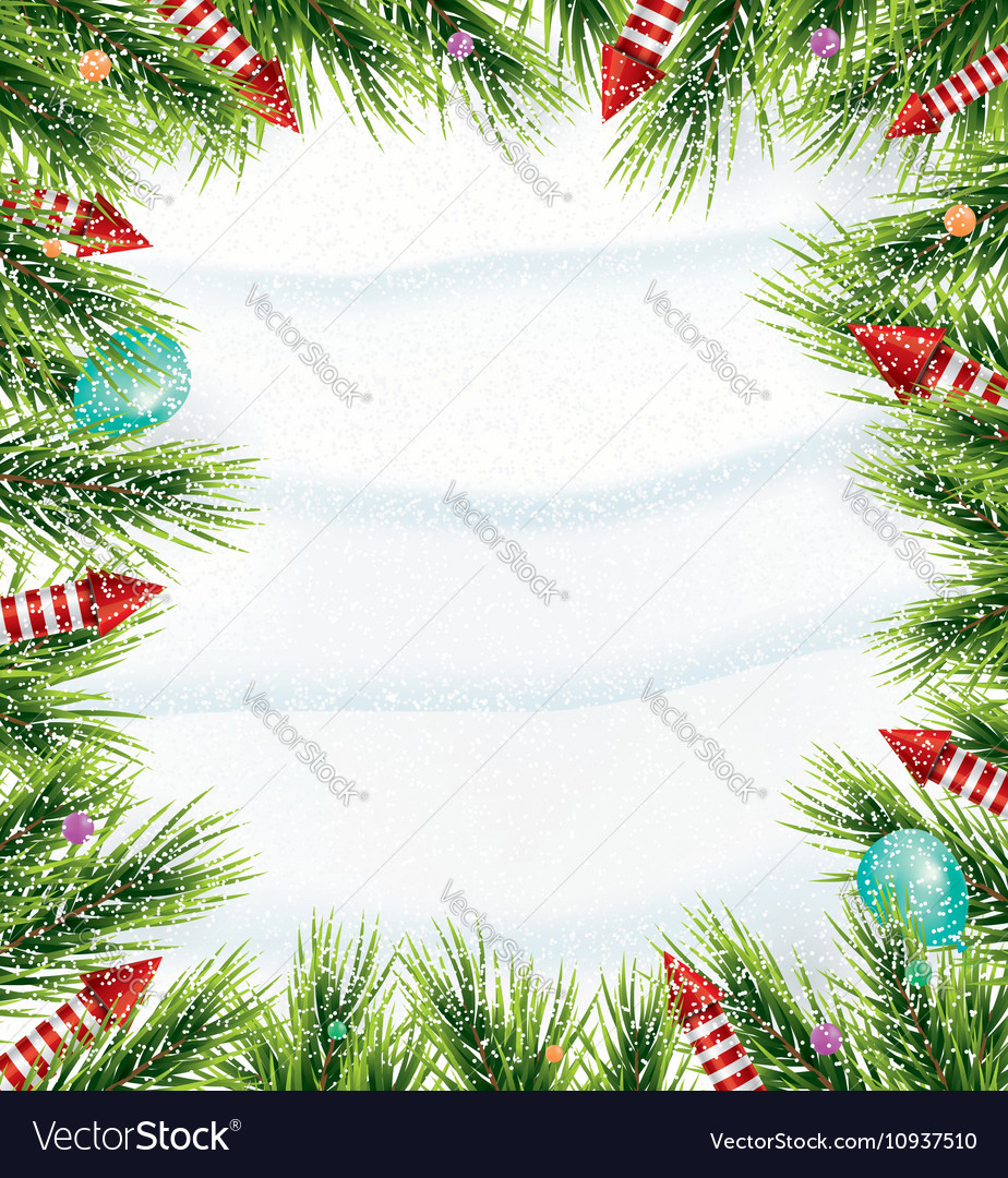 Christmas background with white snowflake