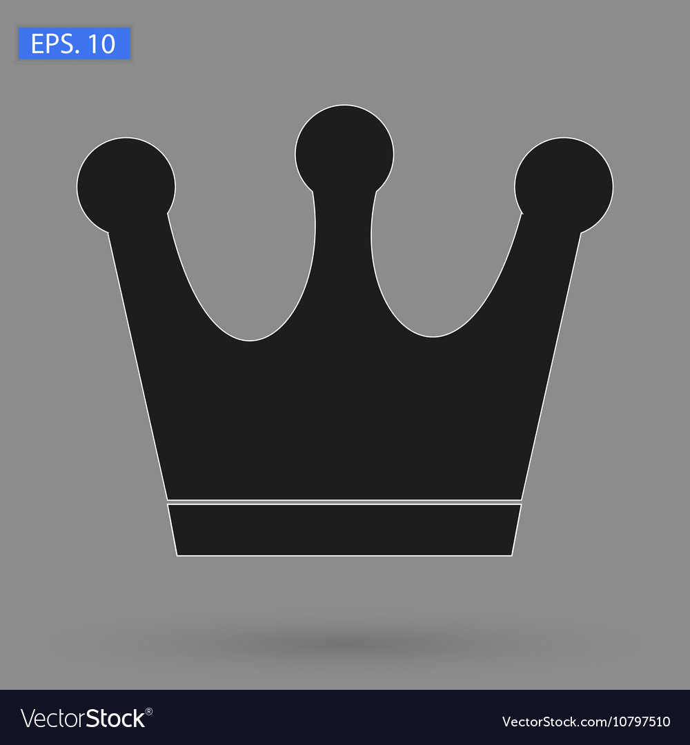 Crown Icon in trendy flat style isolated on grey