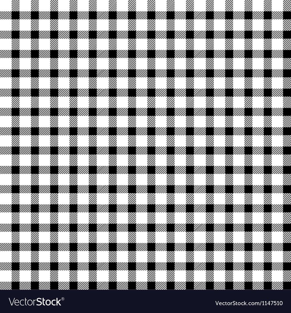 Seamless retro white-black square tablecloth vector image