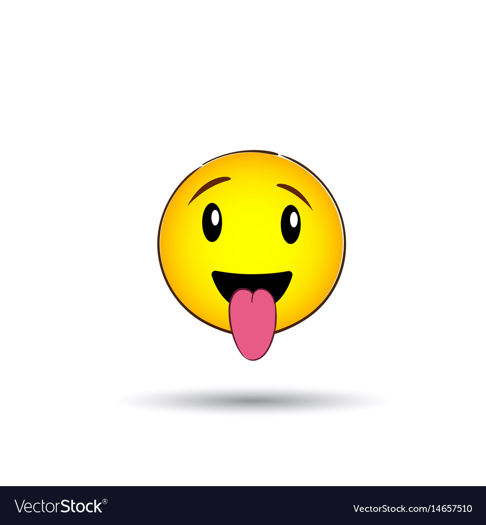 Yellow smiling face positive people emotion icon