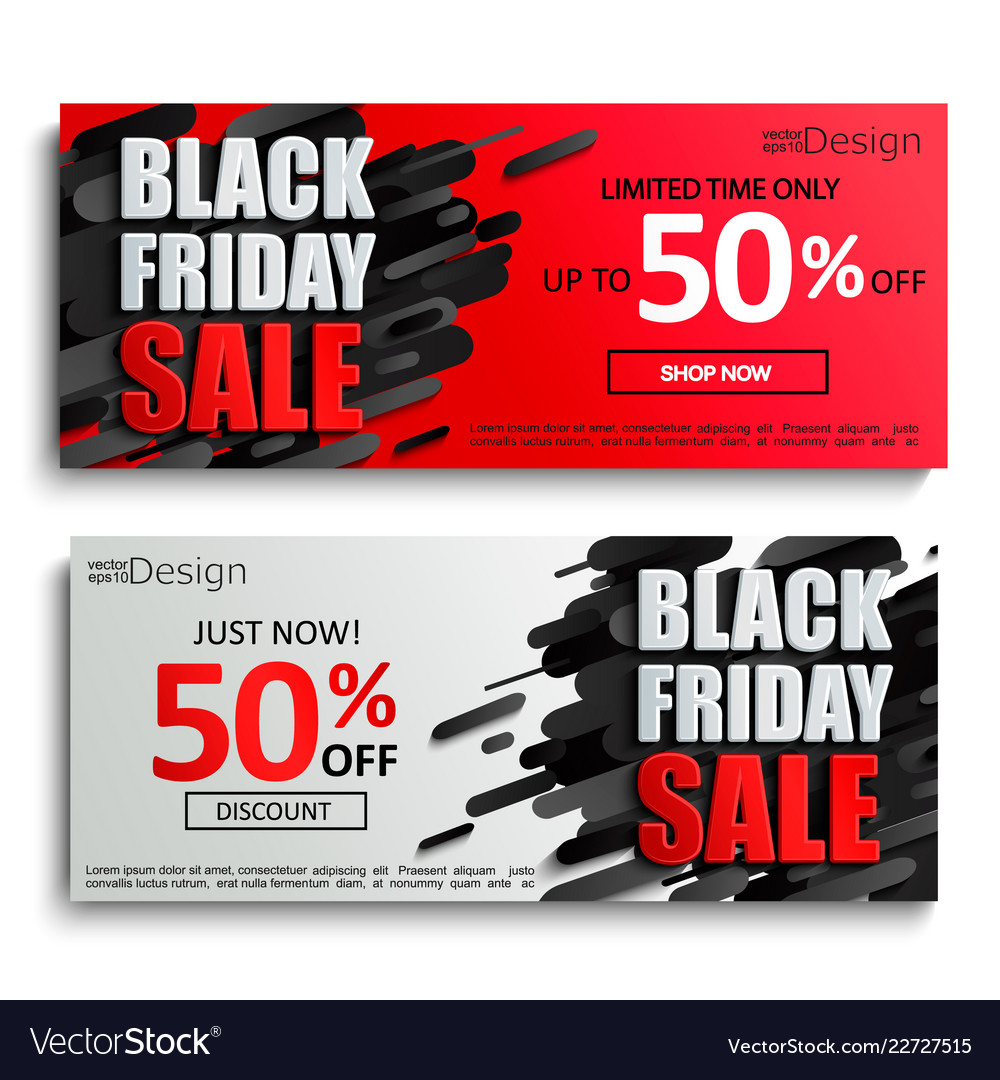 2 black friday sale banners on dynamic background