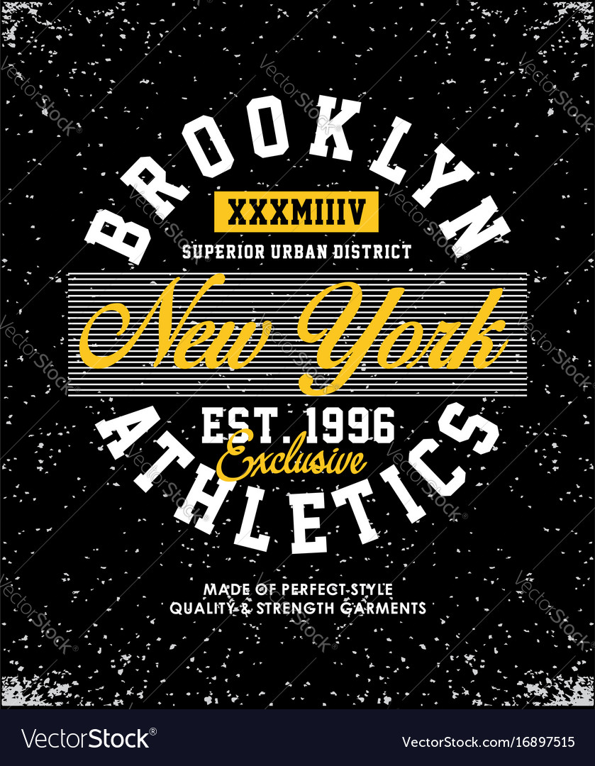 Brooklyn athletics t-shirt graphic