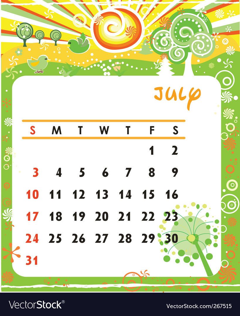 July, calendar