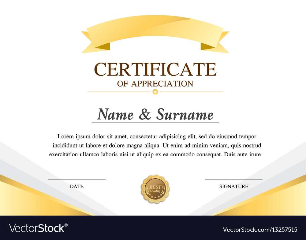 Certificate template construction warranty vector image yelopaper