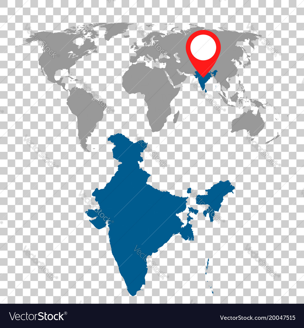 Detailed map of india and world map navigation